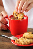 Morning coffee with biscuits royalty free stock images