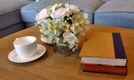Morning coffee and books Royalty Free Stock Photo