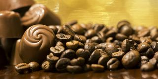 Morning coffee, caffeine and freshness banner Stock Photography