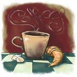 Morning coffee cartoon Stock Photos