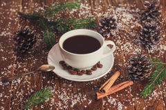 Morning coffee for Christmas Stock Image