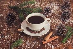 Morning coffee for Christmas Stock Image