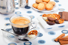 Morning coffee and cookies Stock Image
