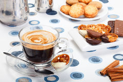 Morning coffee and cookies Stock Photo