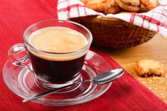 Morning coffee and cookies Royalty Free Stock Photo