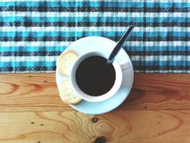 Morning coffee. Cookies and a cup of coffee royalty free stock photography