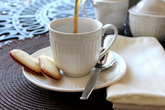 Morning Coffee Pour Royalty Free Stock Images