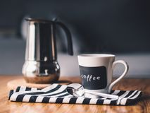 Morning, Coffee, Cup, Drink, Table Royalty Free Stock Images