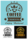 Morning coffee cup poster Royalty Free Stock Image