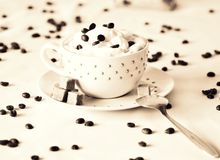 Morning coffee in the cup. royalty free stock images