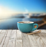 Morning Coffee Cup Sky Background Royalty Free Stock Image