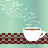 Morning coffee cup vector illustration Stock Image