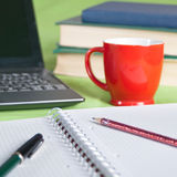 Morning coffee on the desk Royalty Free Stock Images