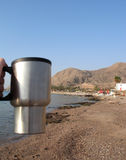 Morning coffee in Eilat Royalty Free Stock Image