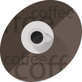 Morning coffee. A good cup of black coffee royalty free illustration