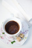 Morning coffee. Hot coffee in the morning Stock Photography