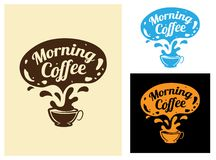 Morning coffee icon Royalty Free Stock Photography