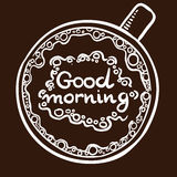 Morning coffee lettering Royalty Free Stock Images