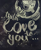 Morning coffee with message Love to You. illustration Royalty Free Stock Photography