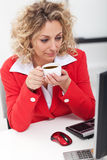 Morning coffee in the office Royalty Free Stock Photo