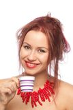 Morning coffee with smile Royalty Free Stock Image