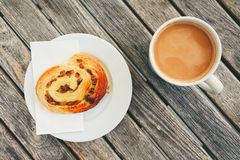 Morning coffee with with sweet pastries Stock Images