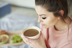 Morning. Coffee tastes always the best Stock Image