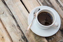 Morning coffee top view. Royalty Free Stock Image