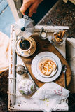 Morning coffee in vintage style Royalty Free Stock Image
