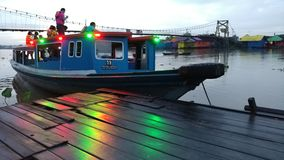 Morning. Colors boat transport loh Baintan Stock Image