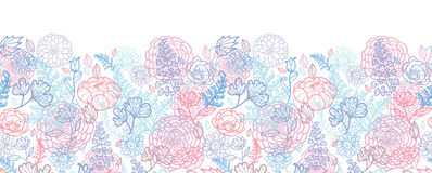 Morning colors floral horizontal seamless pattern Royalty Free Stock Image