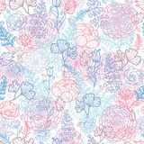 Morning colors floral seamless pattern background Stock Photo