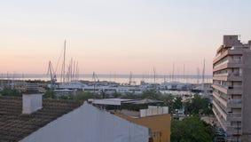 Morning colors over Santa Catalina Stock Photo