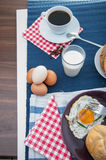 Morning concept with breakfast, natural theme. Colorful breakfast theme, morning concept stock photos