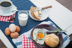 Morning concept with breakfast, natural theme. Colorful breakfast theme, morning concept stock images