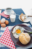 Morning concept with breakfast, natural theme. Colorful breakfast theme, morning concept royalty free stock image