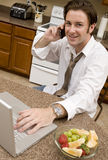Morning Conference Call Stock Photo