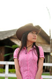 Morning cowgirl Royalty Free Stock Photos