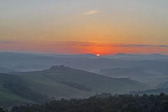 Morning in Crete Senesi Royalty Free Stock Photography