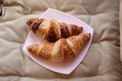 Morning croissants Royalty Free Stock Photo