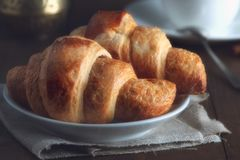 Morning croissants Stock Images