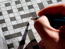 Morning crossword Royalty Free Stock Photo