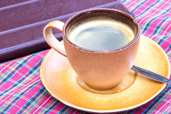 Morning with cup of Americano coffee Royalty Free Stock Images