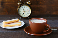 Morning cup of cappuccino Royalty Free Stock Photography