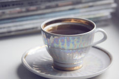 Morning cup of coffe (espresso) Royalty Free Stock Photography