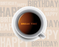 Morning cup of coffee. Break time Stock Images