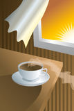 Morning. A cup of coffee in the morning Stock Image