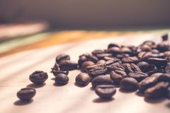 Coffee beans. Morning cup of coffee,coffee beans Royalty Free Stock Images