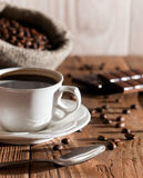 Morning cup of coffee with chocolate Royalty Free Stock Photo
