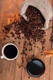 Morning cup of coffee with chocolate Royalty Free Stock Photos